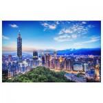 Pintoo-H2040 Puzzle en Plastique - The Beautiful Sunset of Taipei