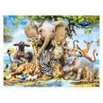 Pintoo-H2043 Puzzle en Plastique - Howard Robinson - Africa Smile