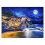 Pintoo-H2056 Puzzle en Plastique - Starry Night of Cinque Terre, Italy