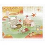 Pintoo-H2074 Puzzle en Plastique - Mumu in the Hot Spring