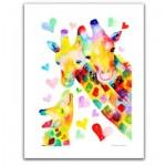 Pintoo-H2092 Puzzle en Plastique - Reina Sato - Giraffe Family