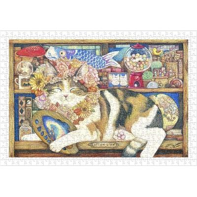 Puzzle Pintoo-H2212 Cotton Lion - Cat Artist