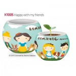 Pintoo-K1005 Puzzle 3D - Flower Pot - Happy with my Friends