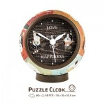 Puzzle 3D Clock - Love is Key to Happiness