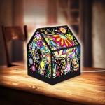 Puzzle 3D - House Lantern - Cheerful Elephants