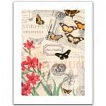Puzzle en Plastique - Buttlerfly & Flower