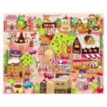 Puzzle en Plastique - 	Candy Village