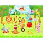 Puzzle en Plastique - Circus in the Forest (en anglais)