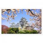 Puzzle en Plastique - Himeji-jo Castle in Spring Cherry Blossoms