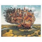 Puzzle en Plastique - Jacek Yerka - City is Landing