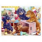 Puzzle en Plastique - Puppies in the Studio