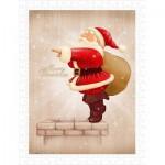 Puzzle en Plastique - Santa Claus Dive in The Fireplace