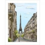 Puzzle en Plastique - Street in Paris, France