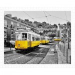 Puzzle en Plastique - Yellow Trams in Lisbon