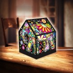 Pintoo-R1007 Puzzle 3D - House Lantern - Cheerful Elephants