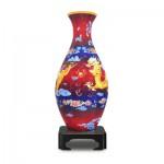 Pintoo-S1002 Puzzle 3D Vase - Le Dragon et le Phénix