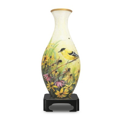 Pintoo-S1003 Puzzle 3D Vase - Chardonnerets