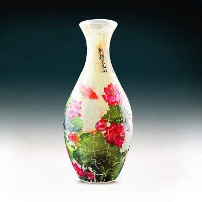 Pintoo-S1024 Puzzle 3D Vase - Carp with Lotus