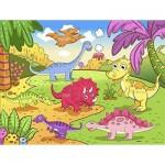 Pintoo-T1024 Puzzle en Plastique - Dinosaures