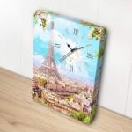 Puzzle   Toile avec Horloge - Printemps à Paris