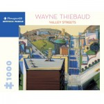 Puzzle  Pomegranate-AA1080 Wayne Thiebaud - Valley Streets