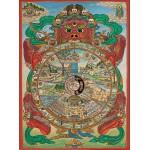 Puzzle  Pomegranate-AA553 Thangka - La roue de la Vie