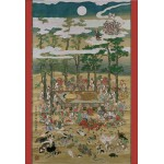 Puzzle  Pomegranate-AA801 Hanabusa Itcho : Bouddha au Nirvana
