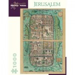 Puzzle   Georg Braun and Franz Hogenberg - Jerusalem, 1588