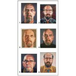 Puzzle  Pomegranate-PB003 Chuck Close - 12 cubes pour six autoportraits