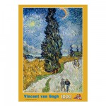 Puzzle  PuzzelMan-089 Van Gogh : La Route des Cyprès