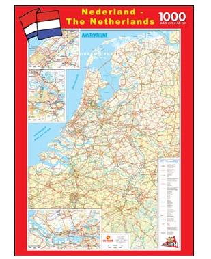 Puzzle PuzzelMan-108 Carte routière des Pays-Bas