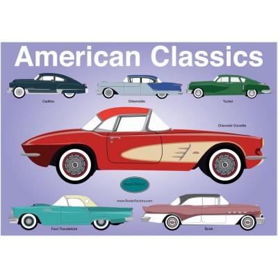 Puzzle PuzzelMan-313 Rosies Factory : Les classiques Américaines