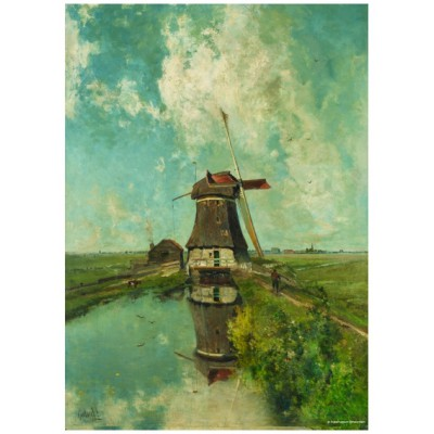 Puzzle PuzzelMan-387 Collection Rijksmuseum Amsterdam - Paul Gabriel : Le Moulin