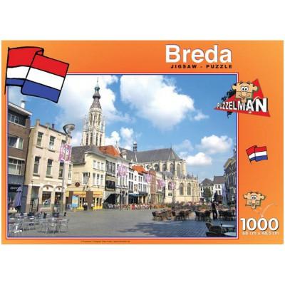 Puzzle PuzzelMan-426 Pays Bas, Breda : Eglise Notre Dame