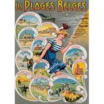 Puzzle  PuzzelMan-636 Les Plages Belges