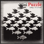 Puzzelman-831 Mini Puzzle - MC Escher - Air and Water