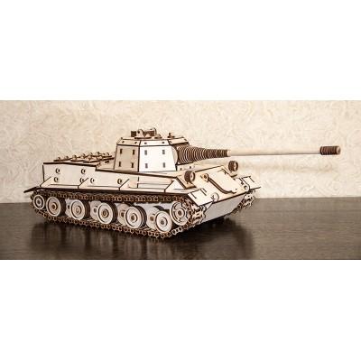 Eco-Wood-Art-04 Puzzle 3D en Bois - Tank Lowe