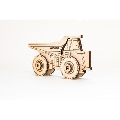 Eco-Wood-Art-33 Puzzle 3D en Bois - Belaz 2D
