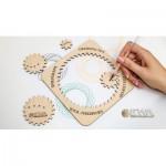 Eco-Wood-Art-36 Puzzle en Bois - Spirographe