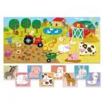 Ludattica-58198 Pièces XXL - 9 Baby Puzzles - La Ferme