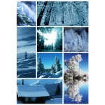 Grafika-Wood-00018 Puzzle en Bois - Collage Neige