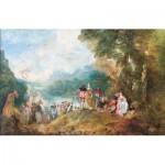 Puzzle-Michele-Wilson-A195-1000 Puzzle en Bois - Antoine Watteau : L'Embarquement pour Cythère