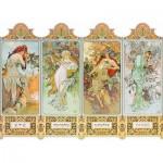 Puzzle-Michele-Wilson-A200-900 Puzzle en Bois - Mucha Alfons : Les Quatre Saisons
