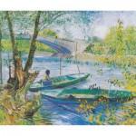 Puzzle  Puzzle-Michele-Wilson-A327-350 Van Gogh Vincent : La pêche au printemps