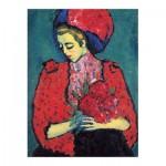Puzzle  Puzzle-Michele-Wilson-A468-150 Alexandre von Jawlensky - Fille aux Pivoines, 1919