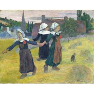Puzzle Puzzle-Michele-Wilson-A473-80 Paul Gauguin - Danseuses Bretonnes, 1888