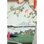Puzzle  Puzzle-Michele-Wilson-A974-350 Hiroshige : Pommiers en fleurs