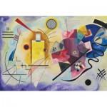 Puzzle-Michele-Wilson-K066-50 Puzzle en Bois découpé à la Main - Kandinsky - Jaune, Rouge, Bleu