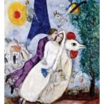 Puzzle-Michele-Wilson-K109-24 Puzzle en Bois découpé à la Main - Chagall Marc - Les Mariés de la Tour Eiffel