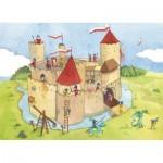 Puzzle-Michele-Wilson-K145-24 Puzzle en Bois découpé à la Main - Panique au Château-Fort